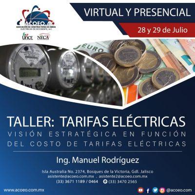 Taller: Tarifas Eléctricas, visión estratégicas en función del costo de tarifas eléctricas
